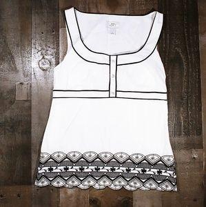 Ann Taylor LOFT Elegant Embroidery Top